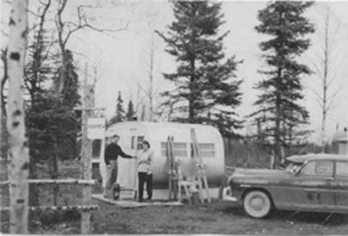 Anchorage, Alaska home (1951) Mr. Dithers, cocker spaniel companion
